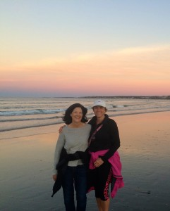 Cathy and me on beach